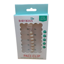 Load image into Gallery viewer, white Baby Boos Paci Clip
