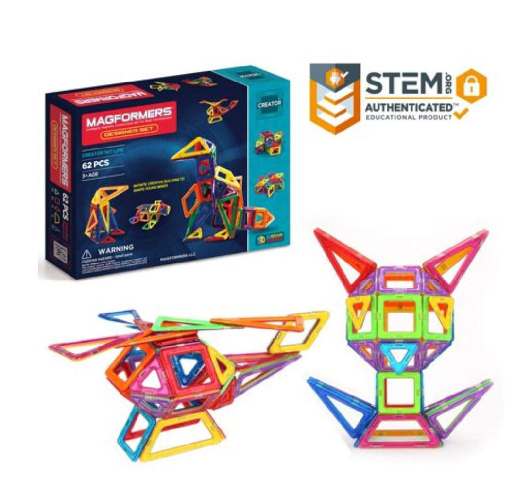 Magformers Designer Set (62-pieces)
