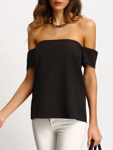 Women's Black Off The Shoulder Top