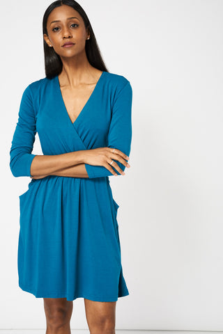 Women's Crossover V-Neck Dress