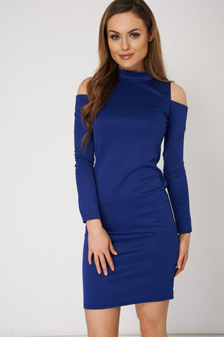 Women's Cold Shoulder Long Sleeve Dress