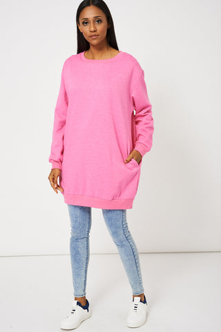 Women's Oversized Fleece Lined Sweatshirt