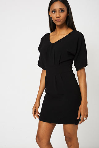 Women's Short Sleeve Back Zipper Dress
