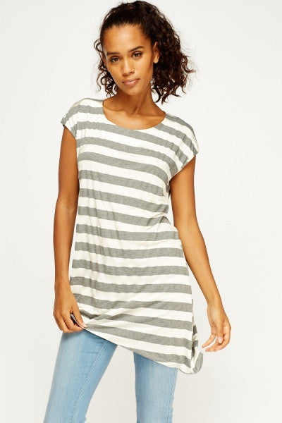 Women's Asymmetric Striped Tops