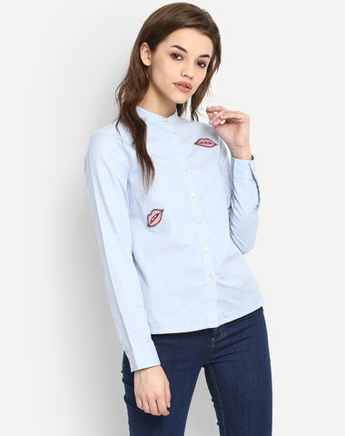 Women's Embroidered Long Sleeve Shirt