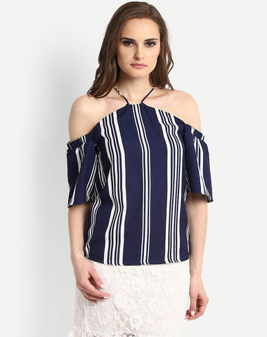 Women's Stripes Charis Flared Top