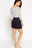 Women's Button Waist Mini Skirt