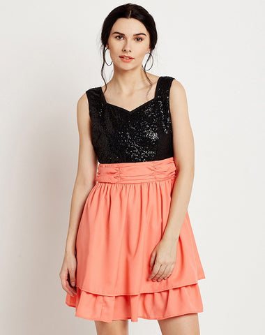 Women's Sleeveless Party Skater Dress