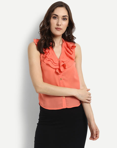 Women's Fly With Frills Blouse