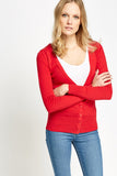 Women's Cotton Blend Plunge Cardigan