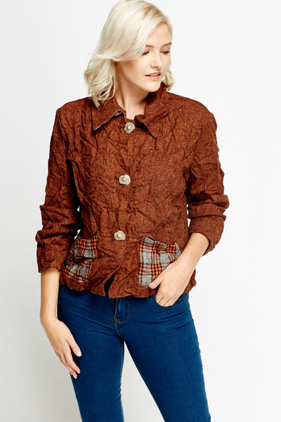 Women's Long Sleeve Crinkled Jacket