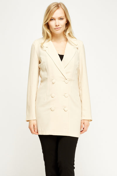 Women's Double Breasted Longline Blazer