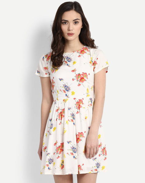 Women's Floral Gilda Cut-outs Skater Dress