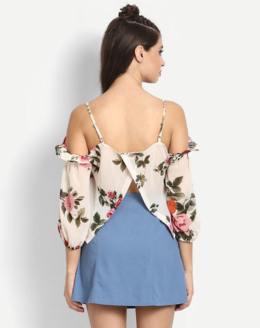 Women's Floral Nelle Off Shoulder Casual Top