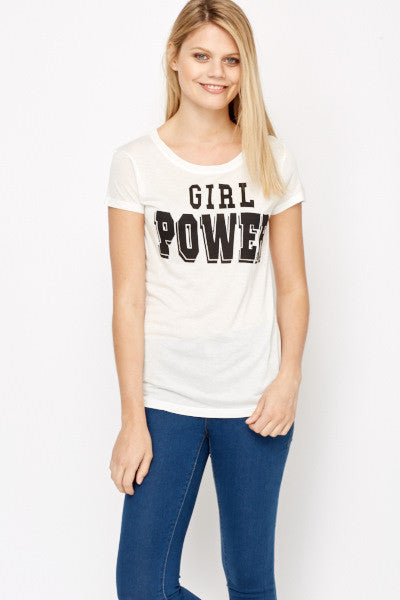 Women's Girl Power Print T-Shirt