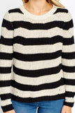 Women's Loose Knit Striped Jumper