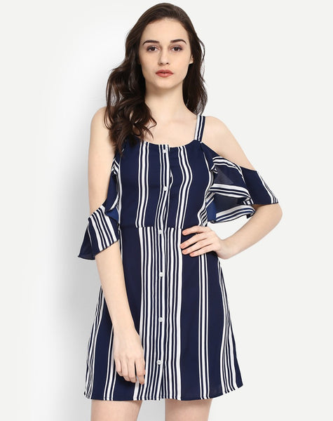Women's Murad Striped Cold Shoulder Dress