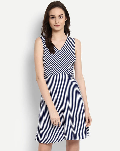 Women's Nautical Striped Claris Skater Dress