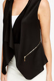 Women's Open Front Sleeveless Blazer