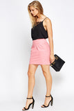 Women's Pleated Mini Body Con Skirt
