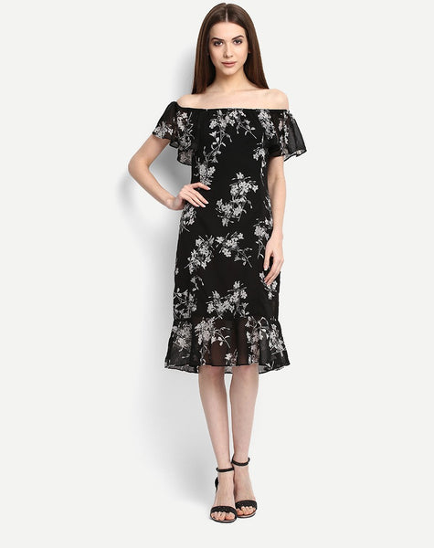 Women's Printed Shakira Off Shoulder Skater Dress
