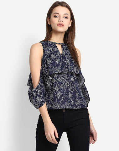 Women's Valorie Cold Shoulder Top Blouse