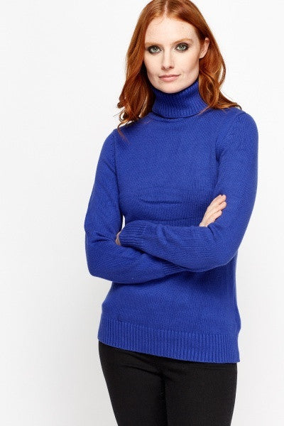 Women's Ribbed Roll Neck Jumper