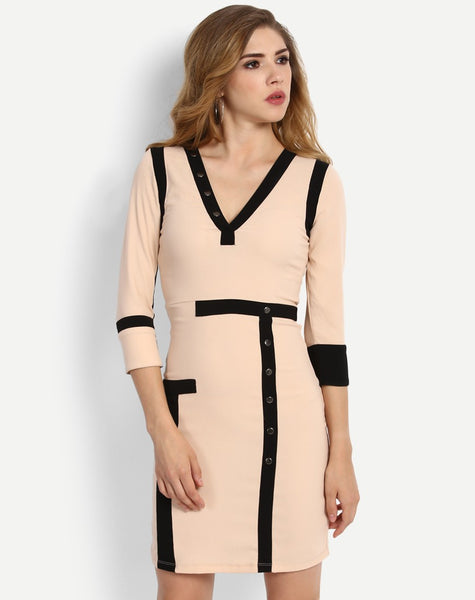 Women's Amanda Elbow Sleeve Body Con Dress