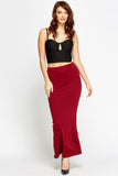 Women's Slit Back Midi Maxi Skirt