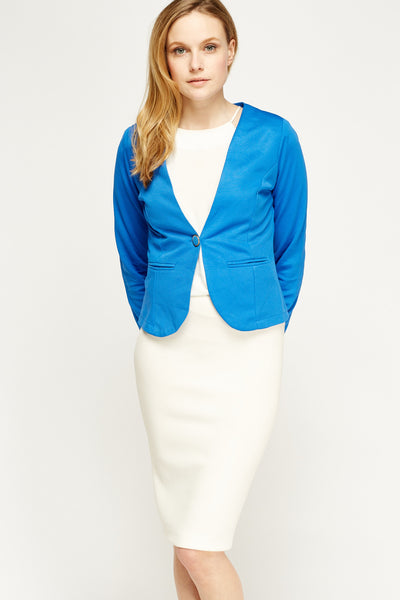 Women's Long Sleeve Textured Formal Blazer