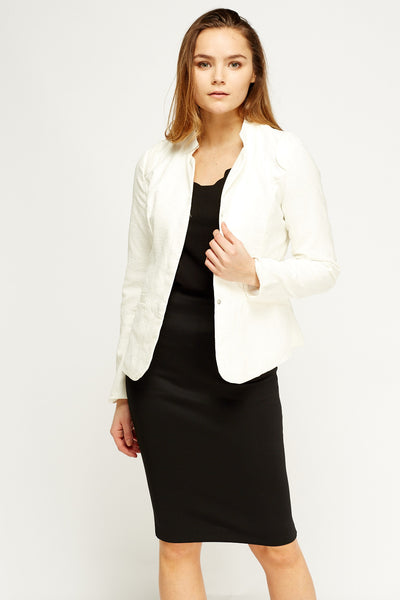 Women's Long Sleeve Textured Lined Jacket