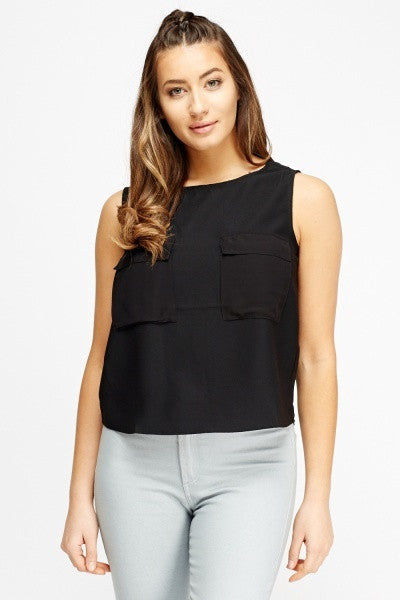 Women's Twin Pocket Contrast Top