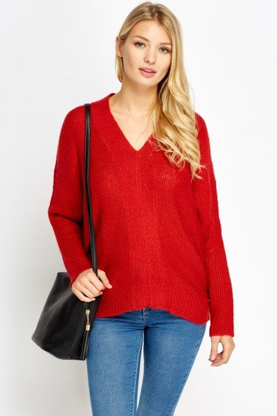 Women's V-Neck Knitted Jumpers