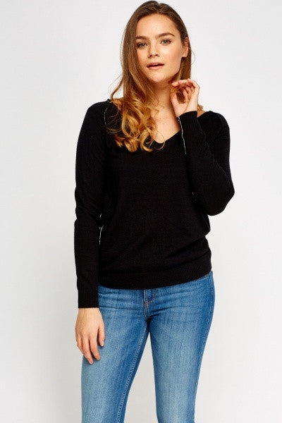 Women's V-Neck Soft Knit Pullover