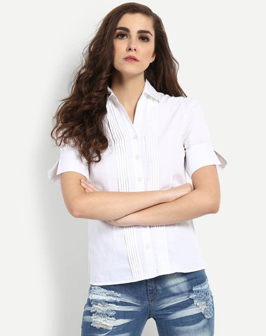 Women's Alma Pleated Collared Shirt