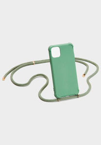 iPhone case biodegradable - green/gold