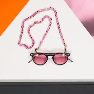 glasses chain acetate - pink