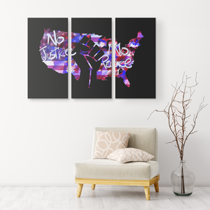 Justice and Peace 3 Piece Canvas