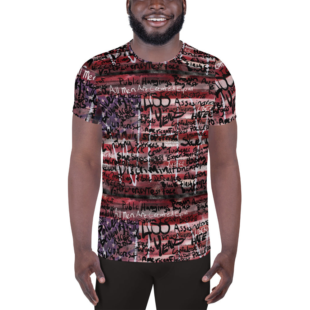 All-Over Print Men's Athletic T-shirt