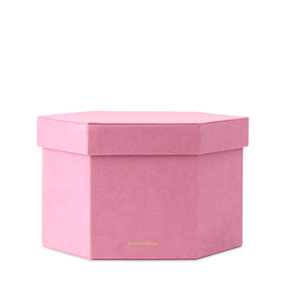 Velour Box «BLUSH» gross von Normann Copenhagen
