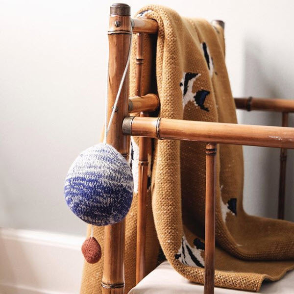 Ball Knitted Music Mobile Blue von Ferm Living