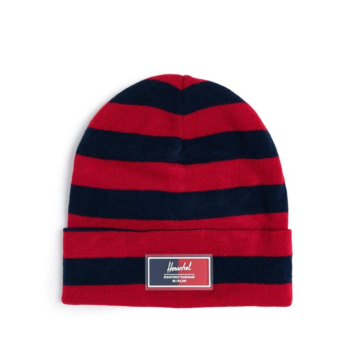 Beanie «ELMER LIGHT RUGBY» Peacoat/Tango Red von Herschel