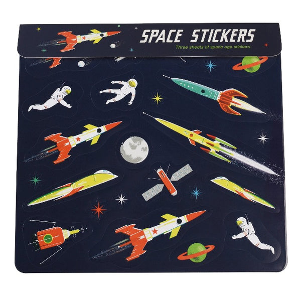 3er-Set Sticker Sheet Space Age
