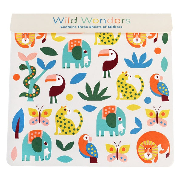 3er-Set Sticker Sheet Wild Wonders