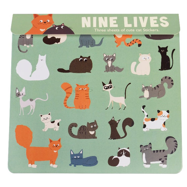 3er-Set Sticker Sheet Nine Lives