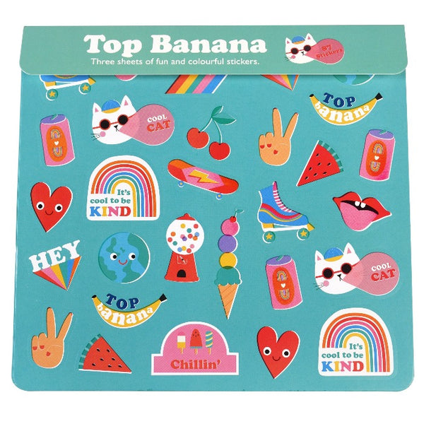 3er-Set Sticker Sheet Top Banana