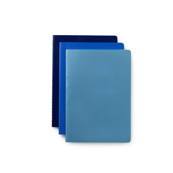 3er Set Notebook small blue von Normann Copenhagen