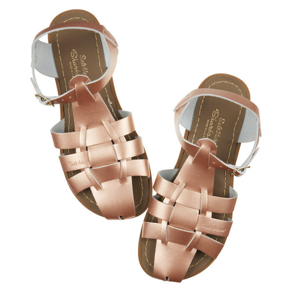 Salt Water Sandalen «Shark» rose gold