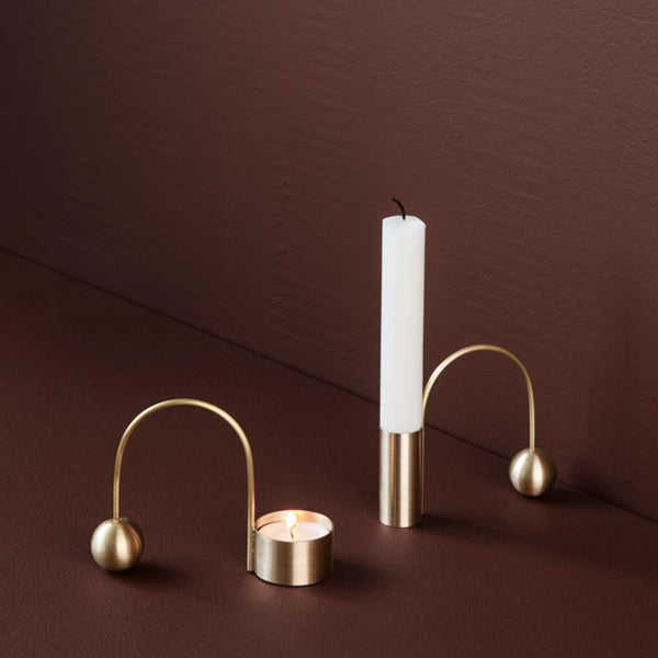 Balance Tealight Holder Brass von Ferm Living