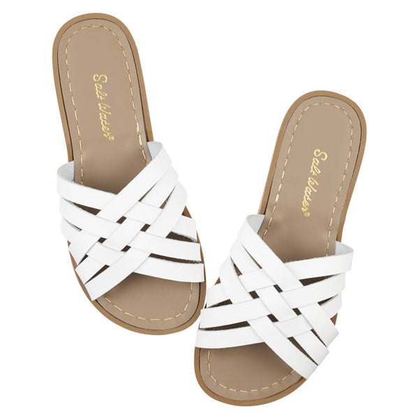 Salt Water Sandalen «RETRO SLIDES» White
